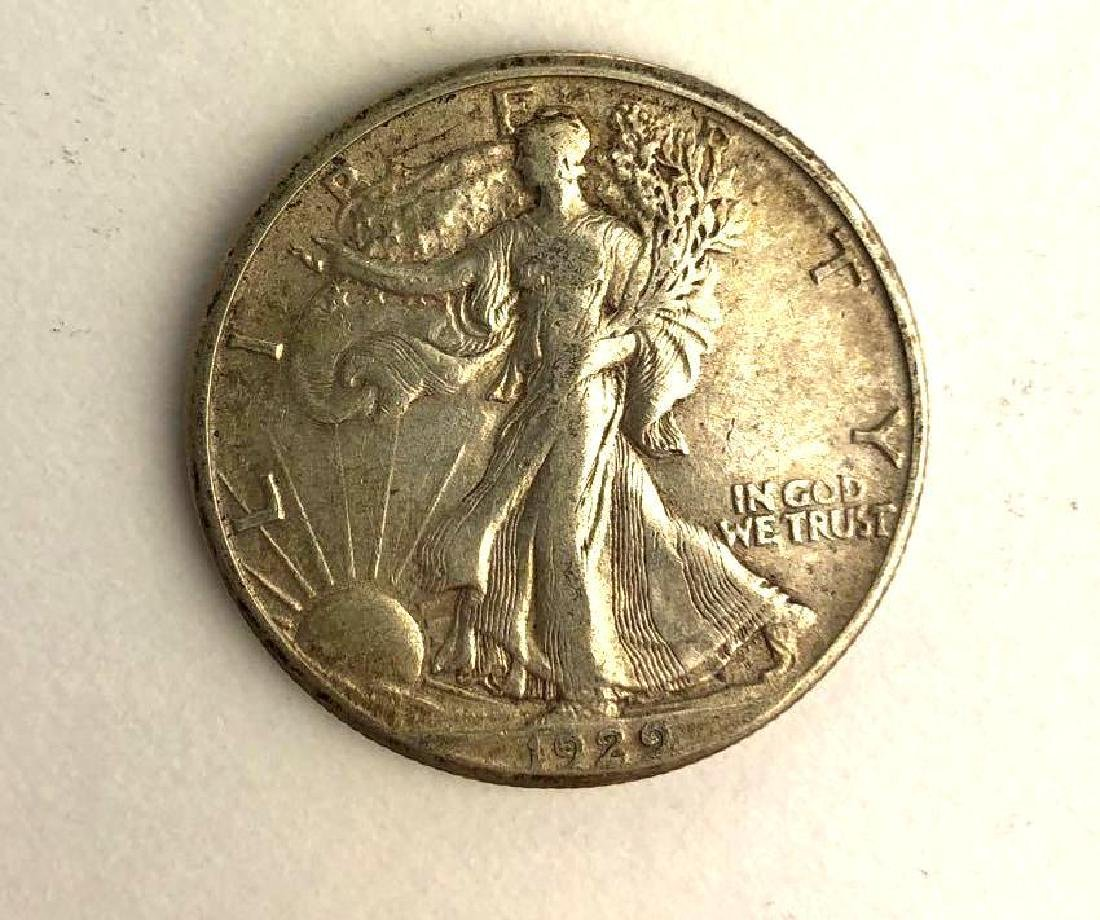 1929 Walking Liberty Half Dollar