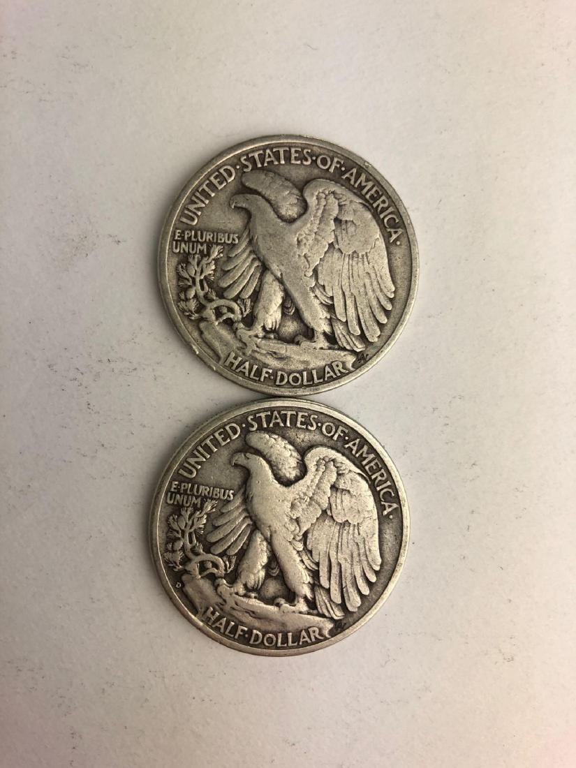 Lot of Two 1936 Walking Liberty Half Dollars - 2