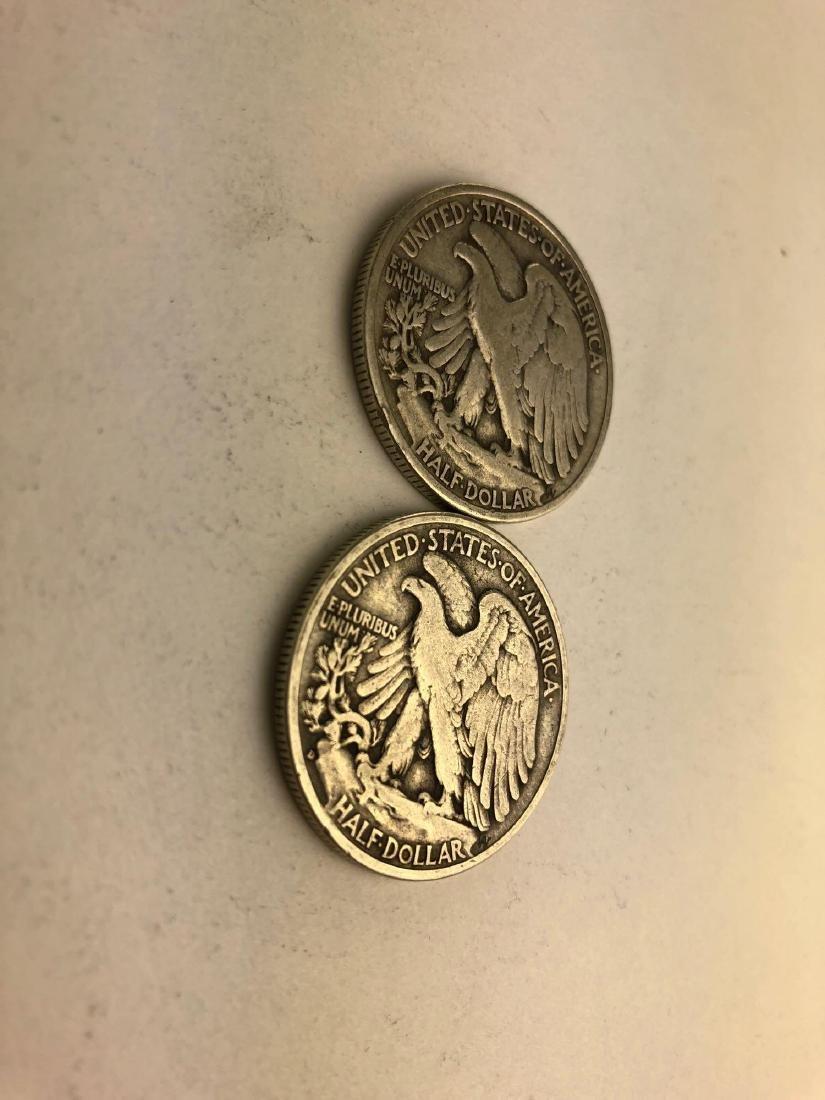 Lot of Two 1936 Walking Liberty Half Dollars - 3