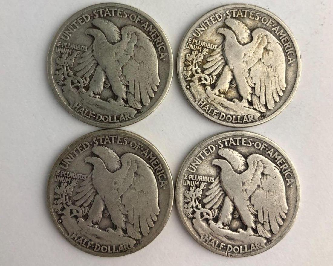 Lot of Four 1935 Walking Liberty Half Dollars - 2