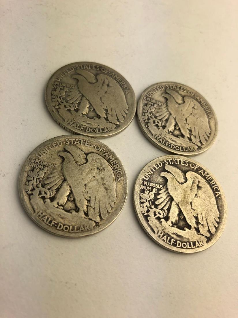 Lot of Four 1935 Walking Liberty Half Dollars - 3