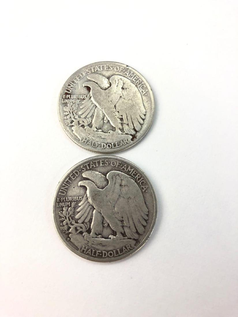 Lot of Two 1939 Walking Liberty Half Dollars - 2