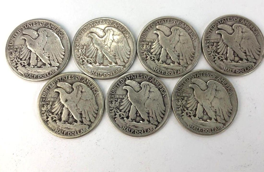 Lot of Seven 1941 Walking Liberty Half Dollars - 2
