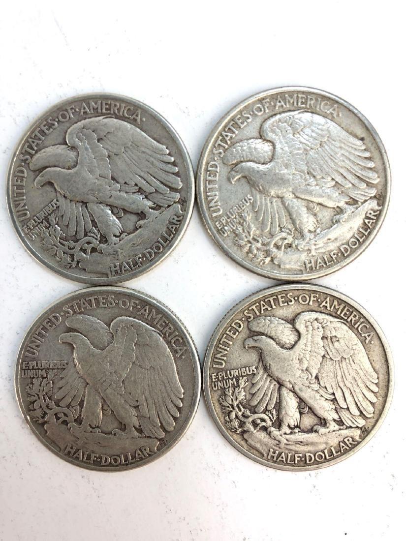 Lot Of Four 1942 Walking Liberty Half Dollars - 2
