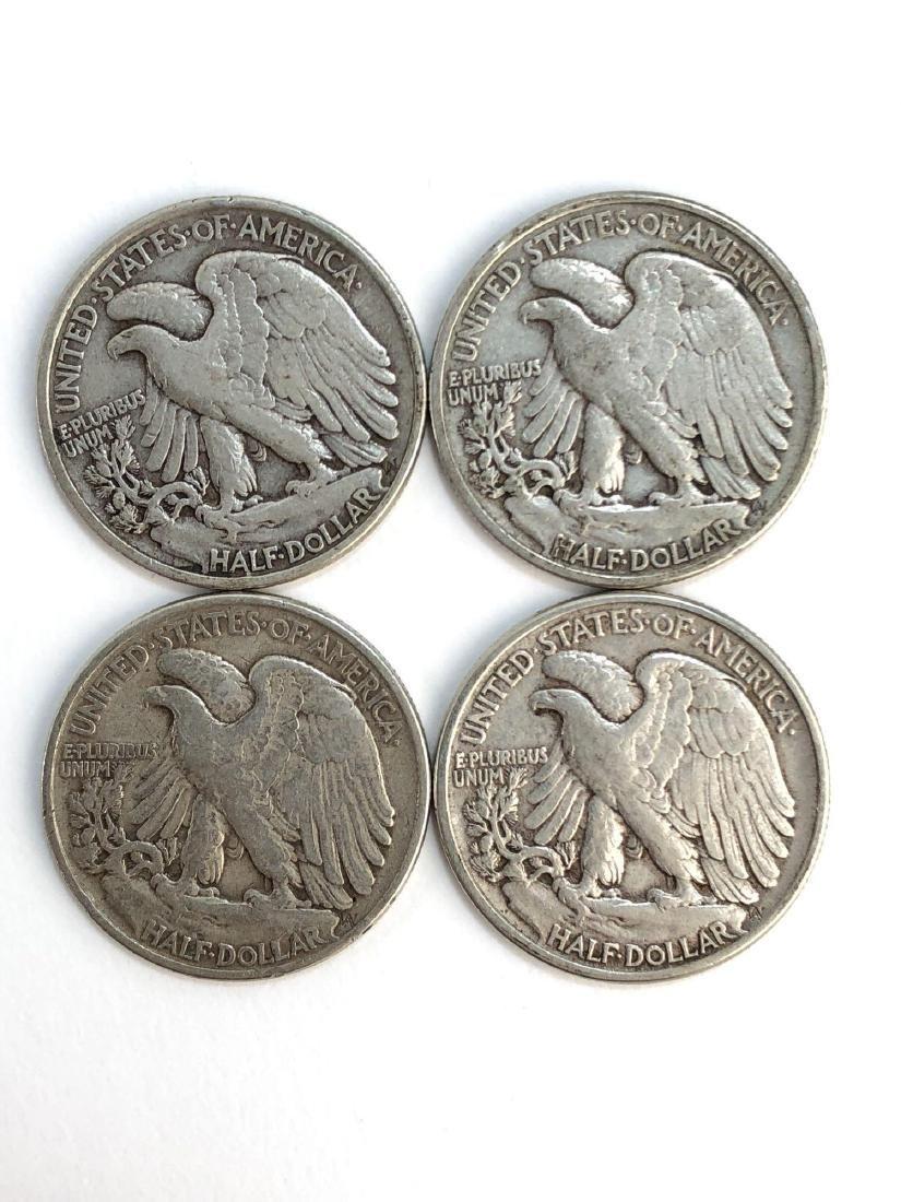 Lot Of Four 1943 Walking Liberty Half Dollars - 2