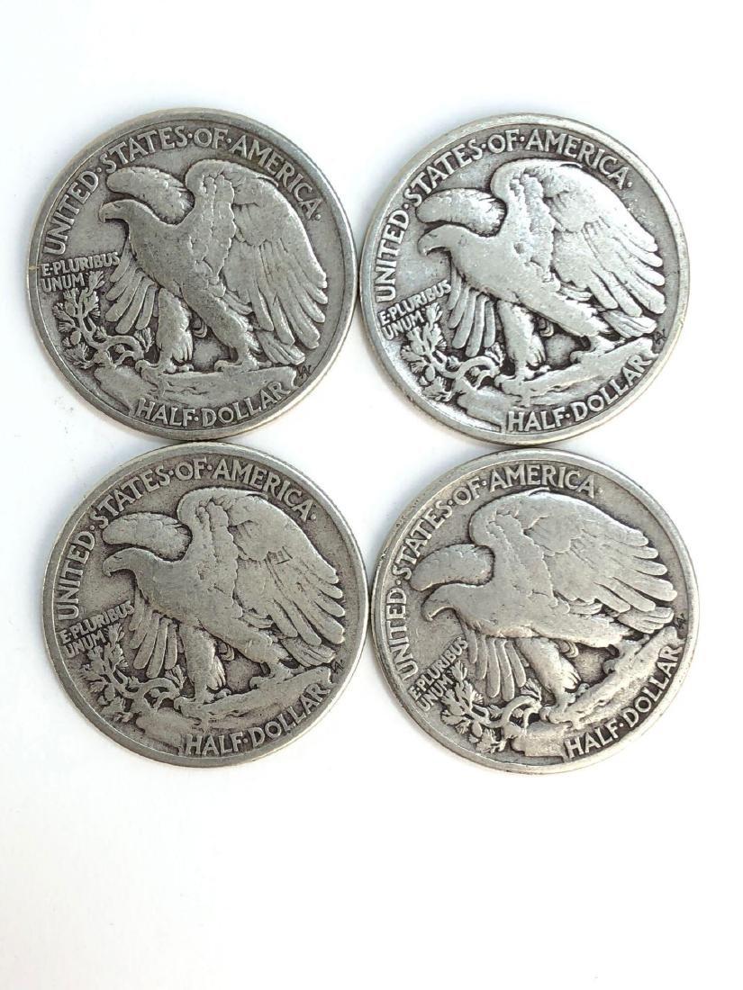 Lot Of Four 1943 Walking Liberty Half Dollars - 4