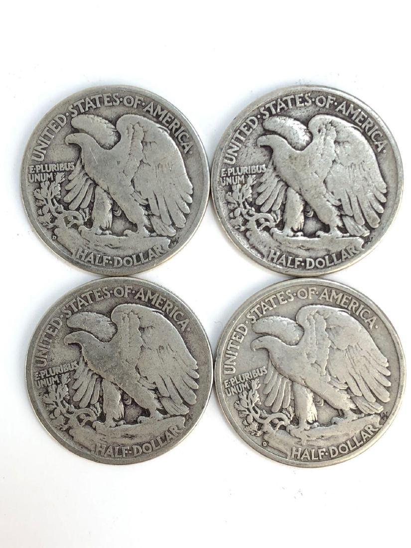 Lot Of Four 1943 Walking Liberty Half Dollar Coins - 2