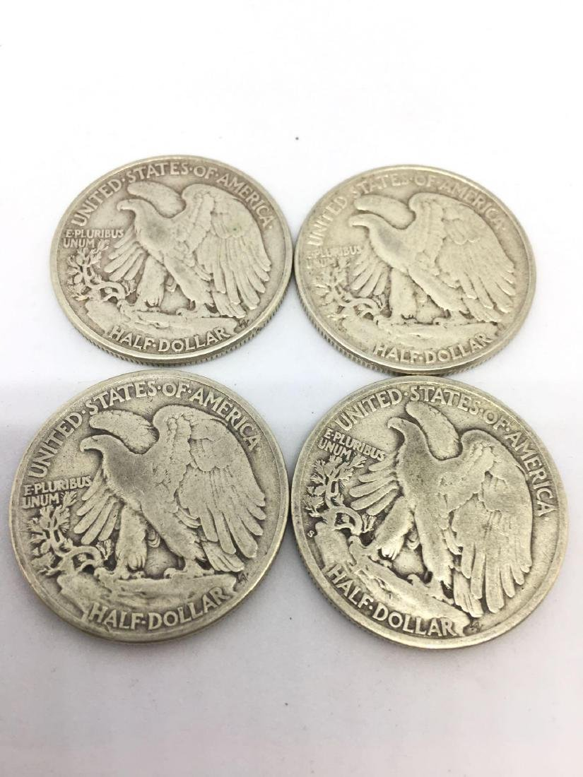 Lot of Four 1943 Walking Liberty Half Dollars - 3