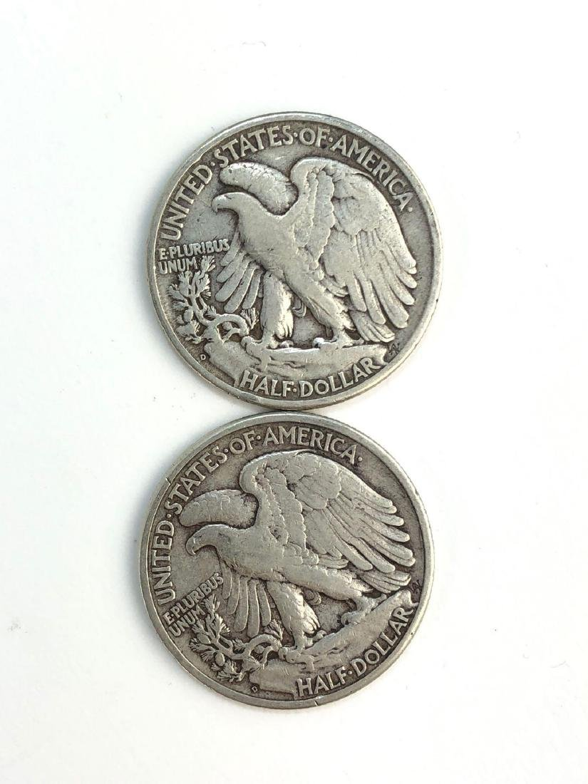 Lot Of Two 1947 Walking Liberty Half Dollar Coins - 2