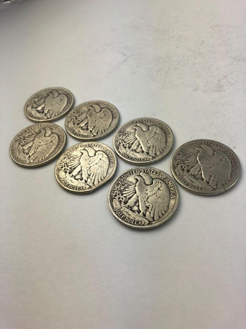 Lot of Seven 1945 Walking Liberty Half Dollars - 4