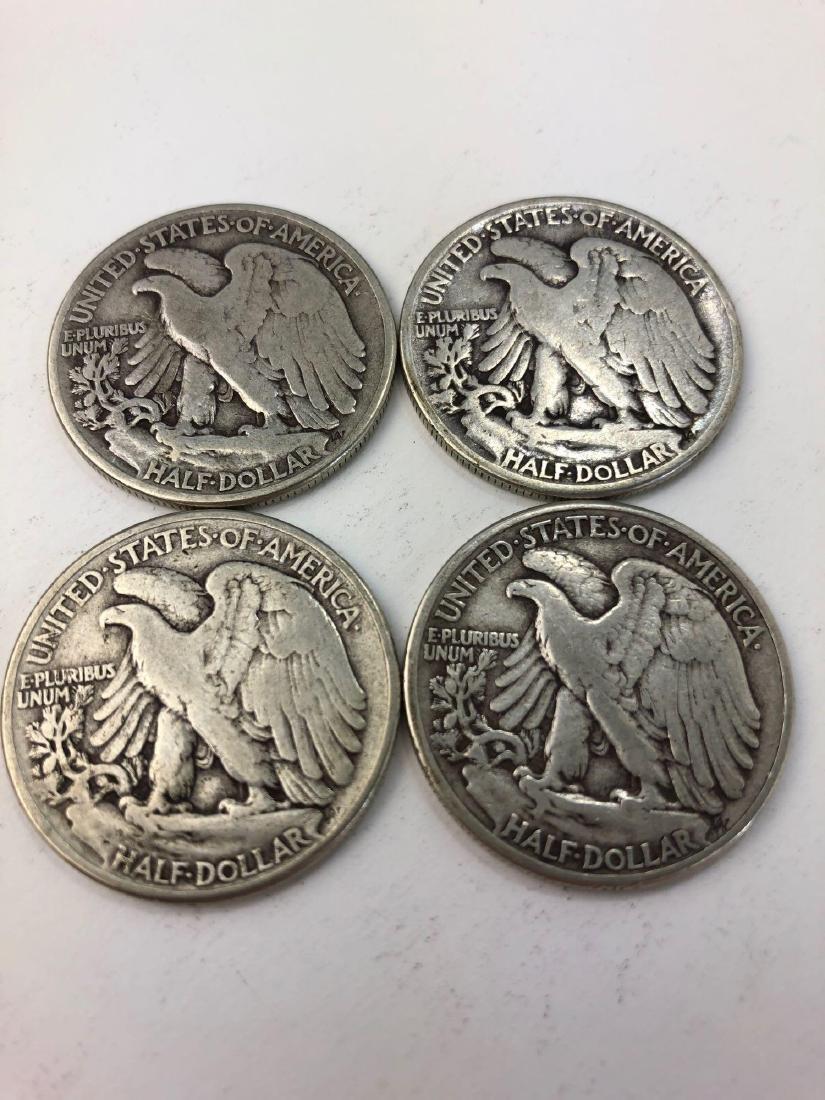 Lot of Four 1945 Walking Liberty Half Dollars - 2