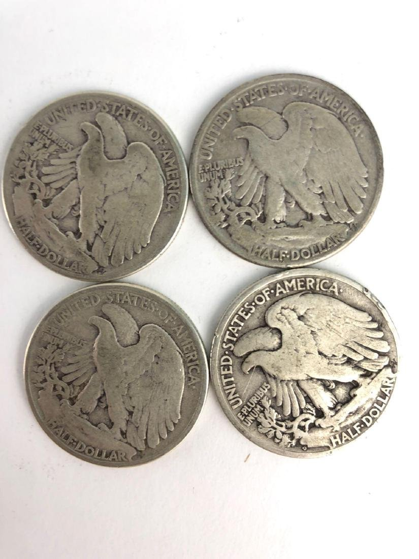 Lot Of Four 1944 Walking Liberty Half Dollar Coins