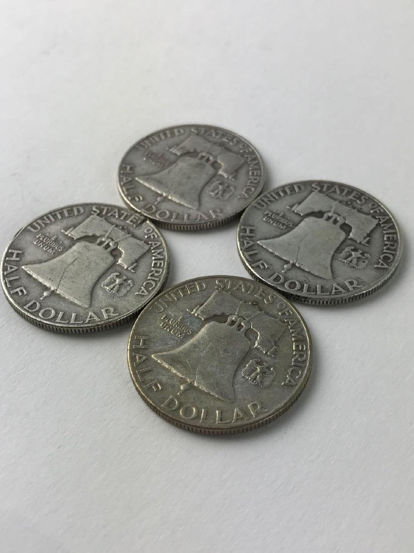 Lot Of Four 1953 Franklin Half Dollar Coins - 3