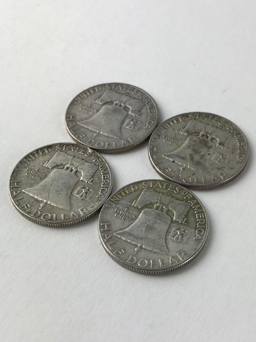 Lot Of Four 1952 Franklin Half Dollar Coins - 3