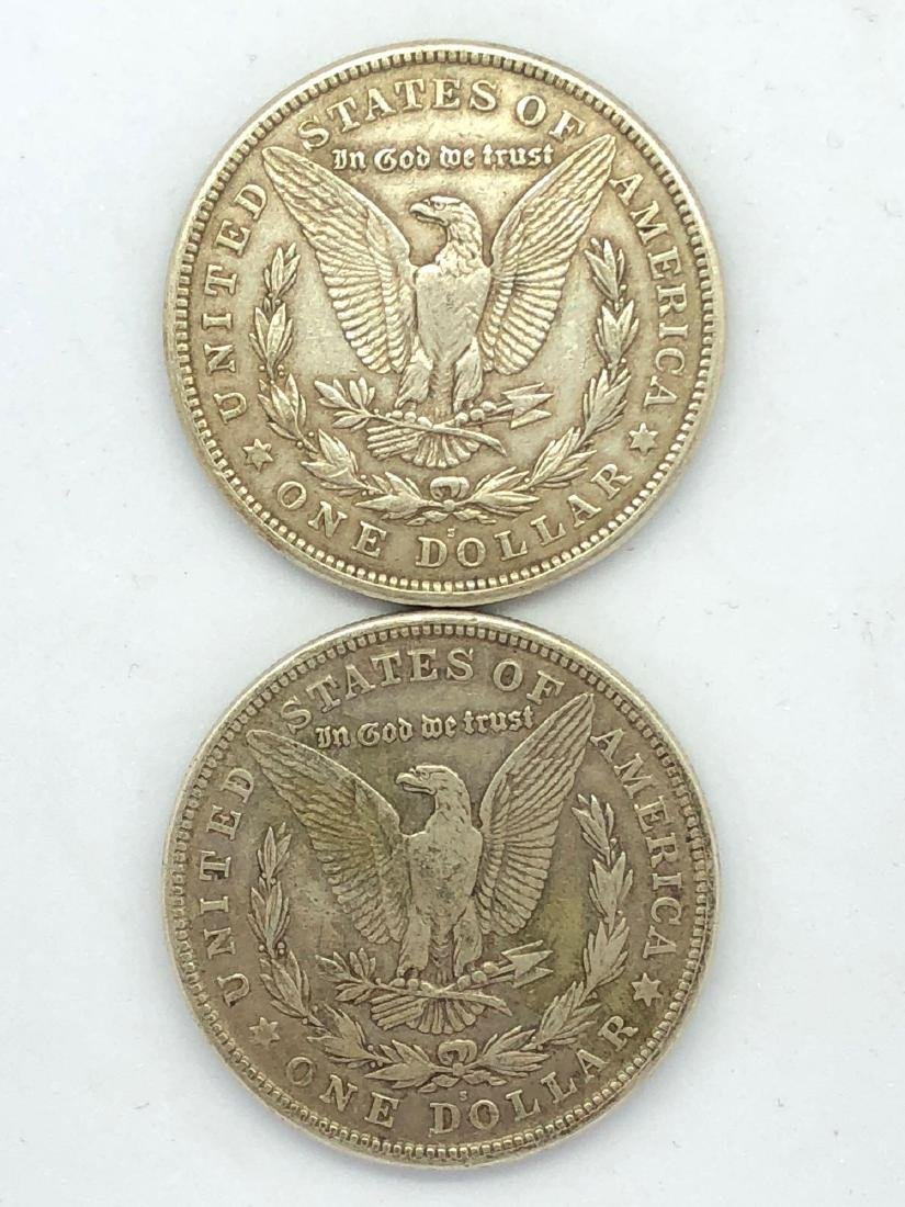 Lot Of Two 1921 Morgan Silver Dollar Coins S-Mint - 2
