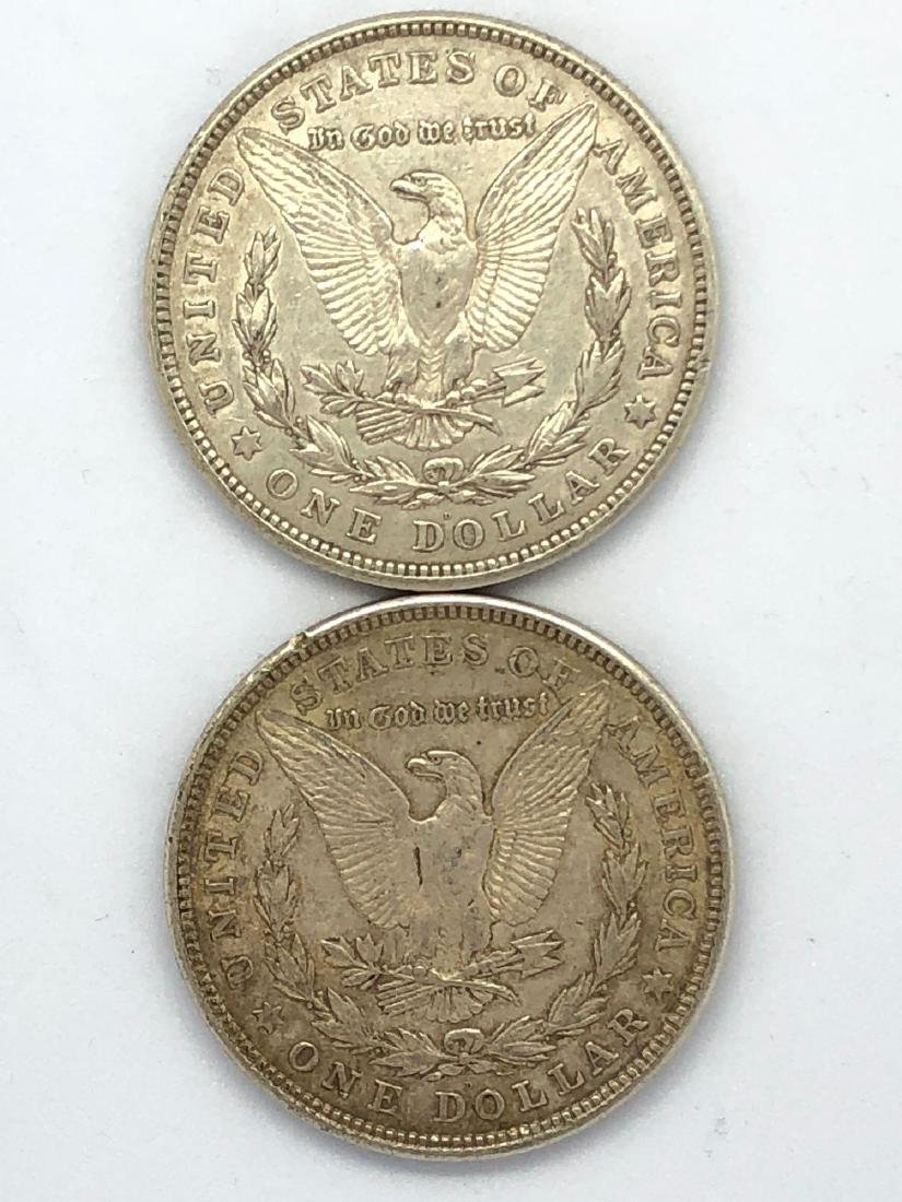 Lot Of Two 1921 Morgan Silver Dollar Coins D-Mint - 2