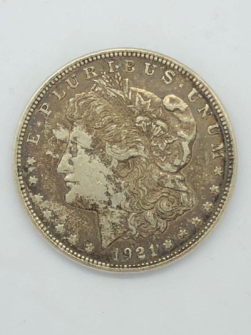 Lot Of One 1921 Morgan Silver Dollar Coin D-Mint