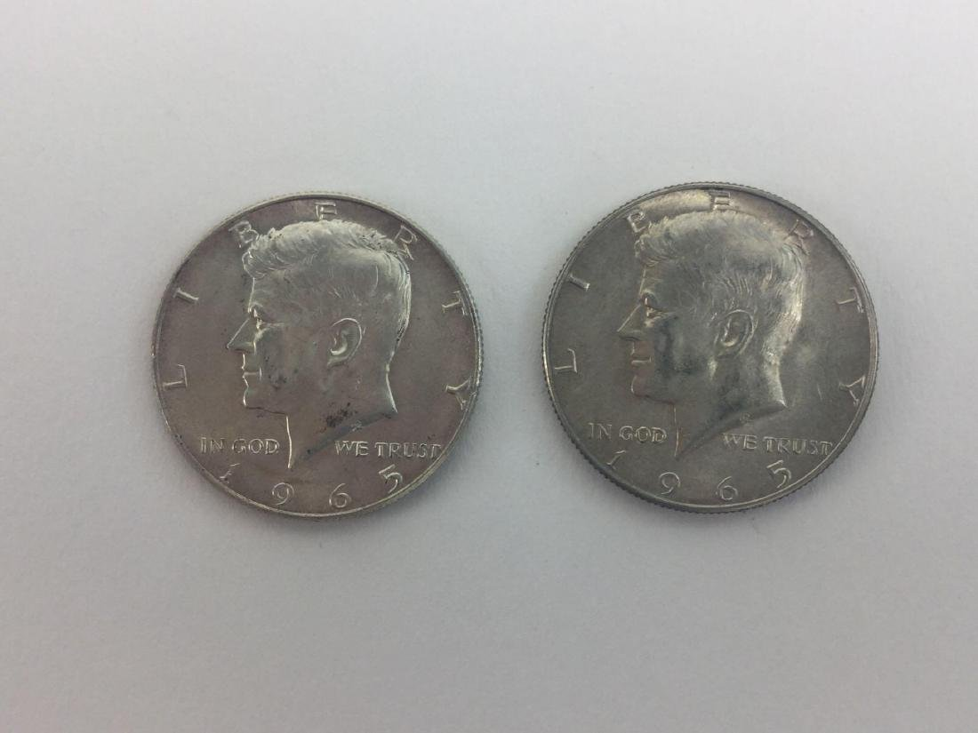 Lot of Two 1965 Kennedy Half Dollars