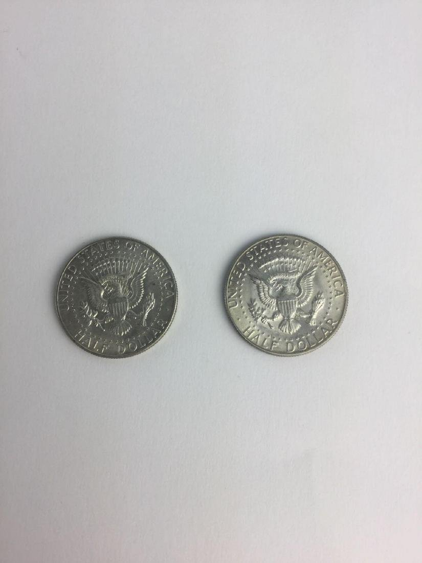 Lot of Two 1965 Kennedy Half Dollars - 2