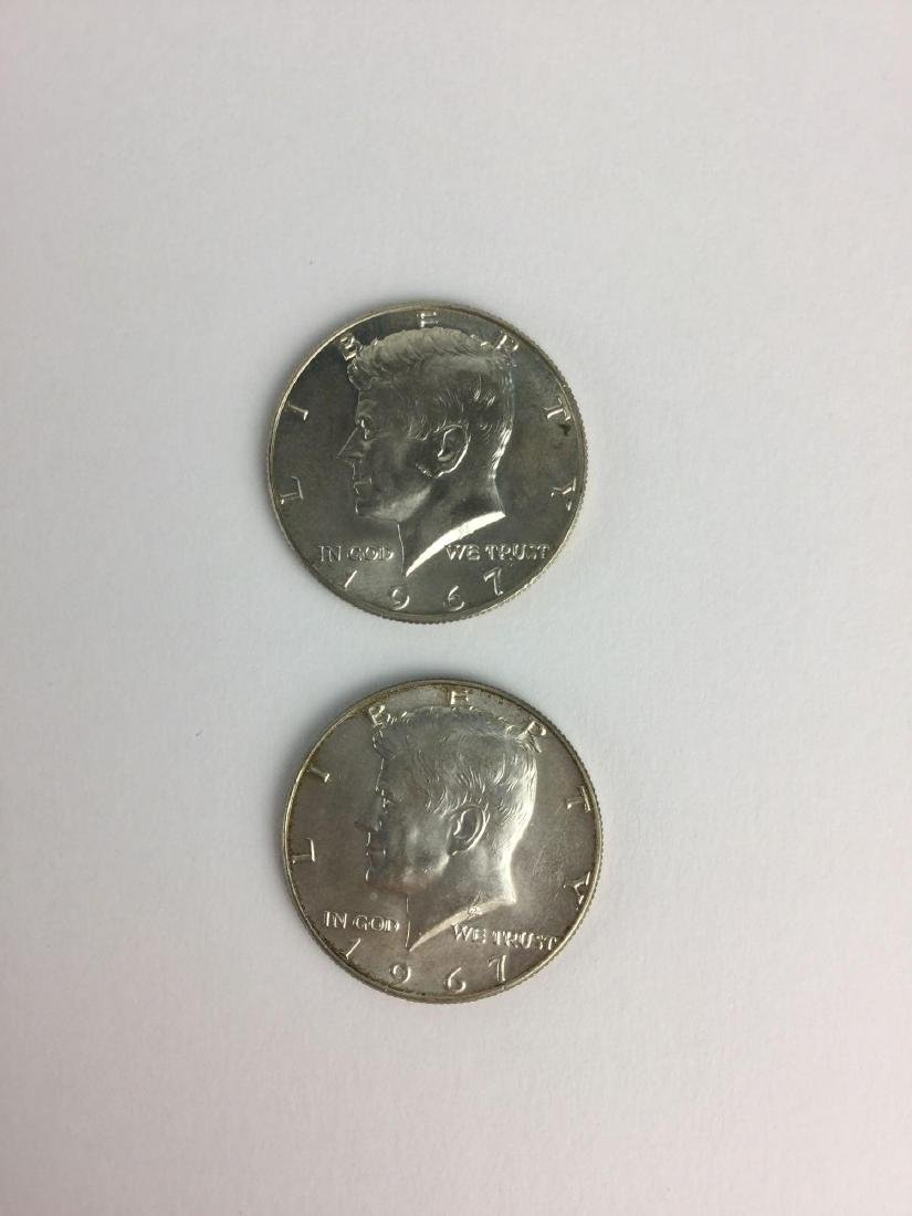 Lot of Two 1967 Kennedy Half Dollars