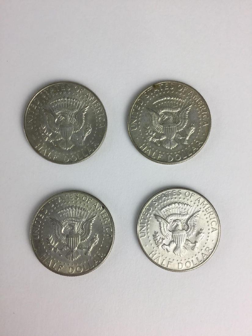 Lot of Four 1968 Kennedy Half Dollar - 2