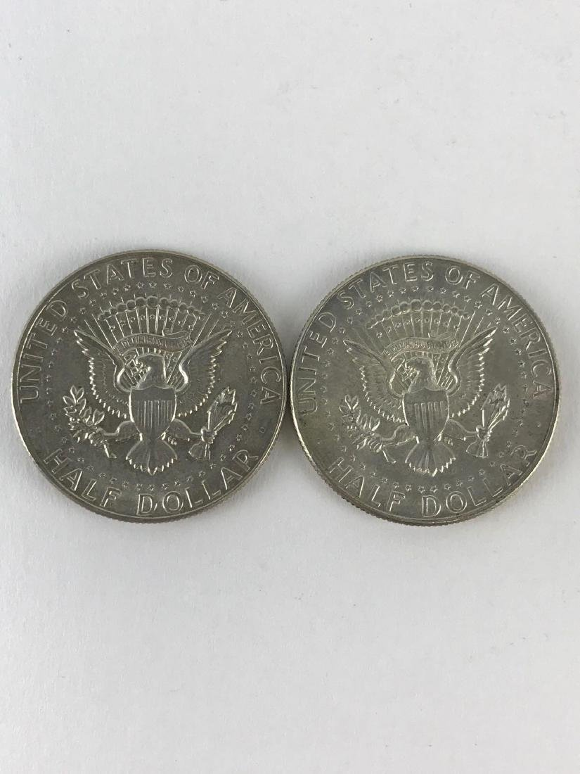 Lot Of Two 1969 Kennedy Half Dollar Coins - 2