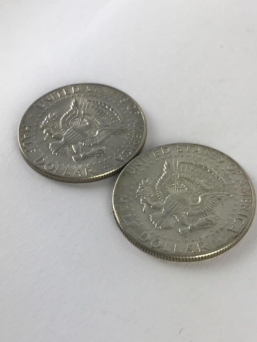 Lot Of Two 1969 Kennedy Half Dollar Coins - 3