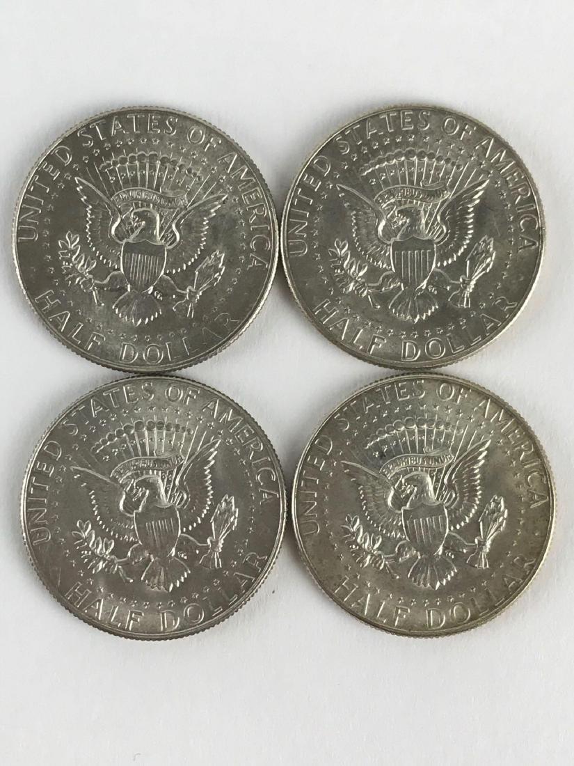 Lot Of Four 1969 Kennedy Half Dollar Coins - 2