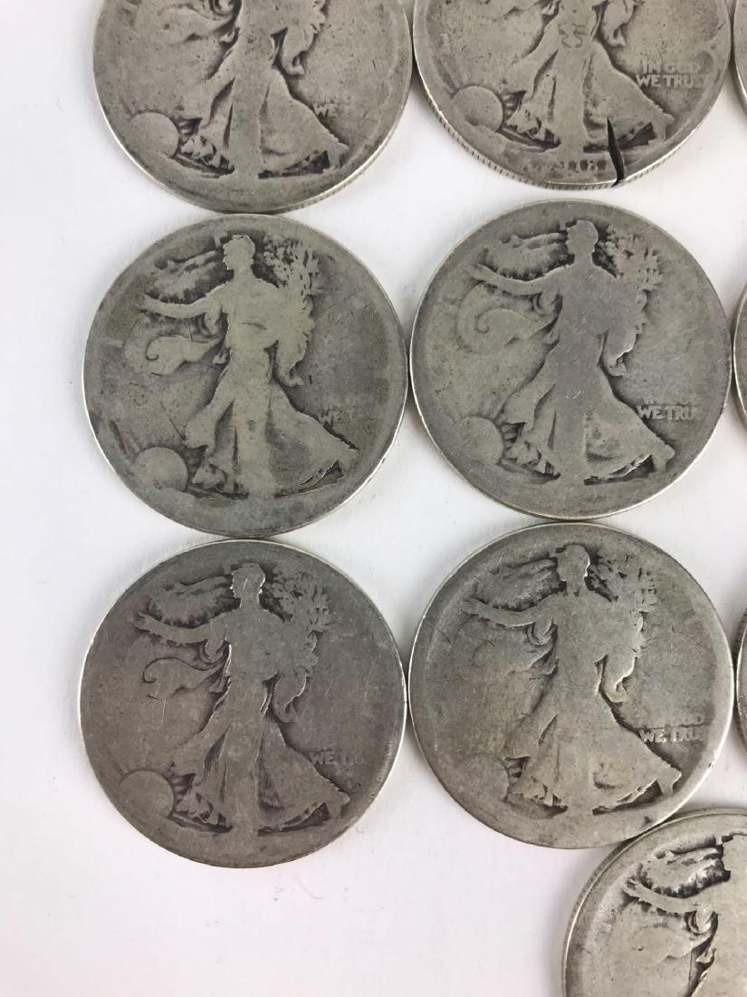 Lot Of 22 Walking Liberty Half Dollar Coins - 10