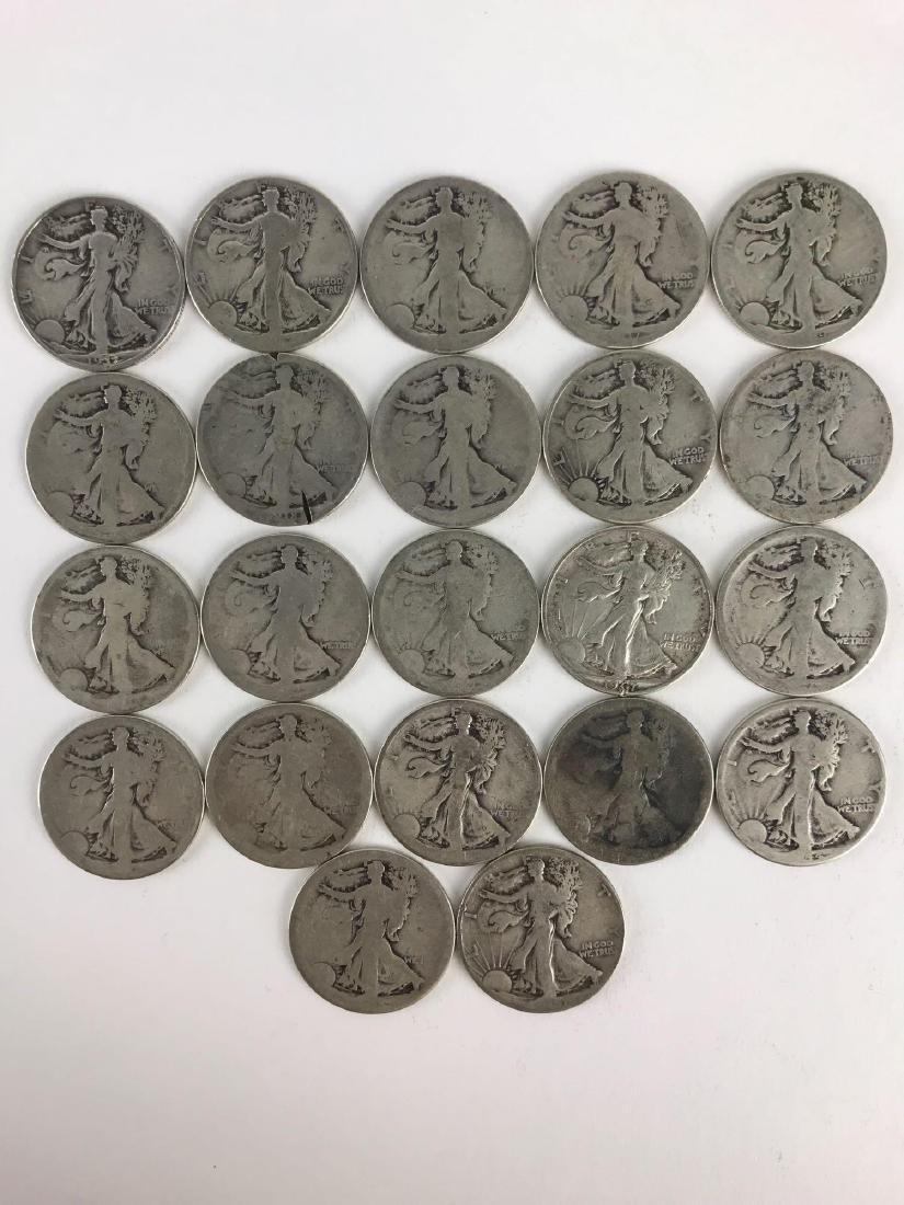 Lot Of 22 Walking Liberty Half Dollar Coins - 7