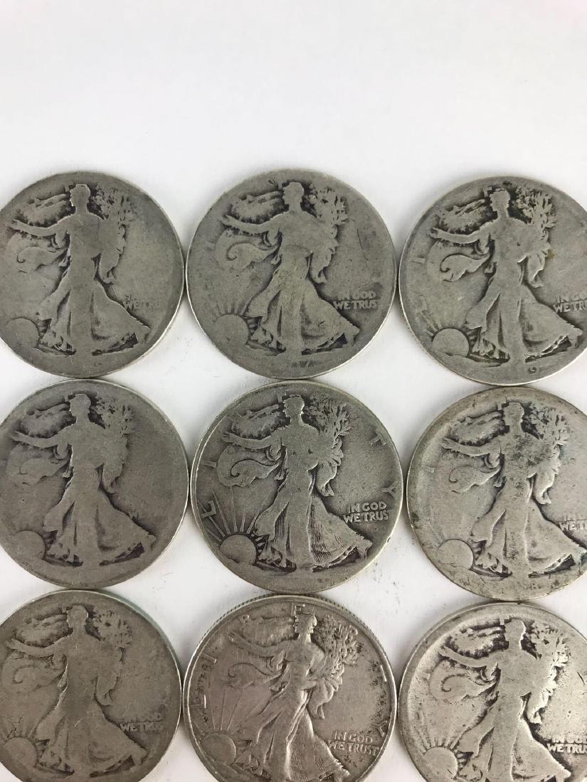 Lot Of 22 Walking Liberty Half Dollar Coins - 9