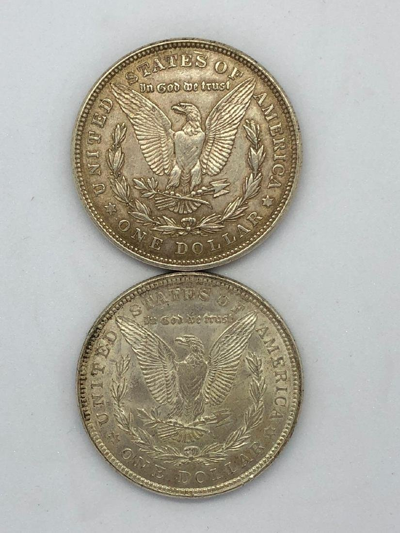 Lot Of Two 1921 Morgan Silver Dollar Coins P-Mint - 2