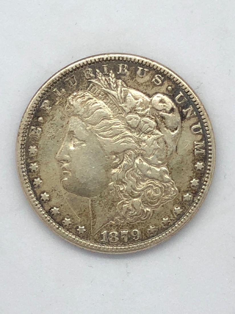 Lot Of One 1879 Morgan Silver Dollar Coin F-Mint