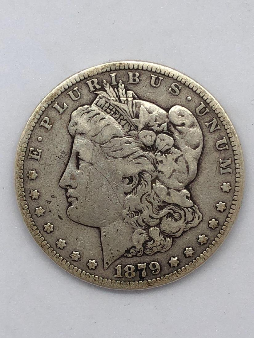 Lot Of One 1879 Morgan Silver Dollar Coin S/F-Mint