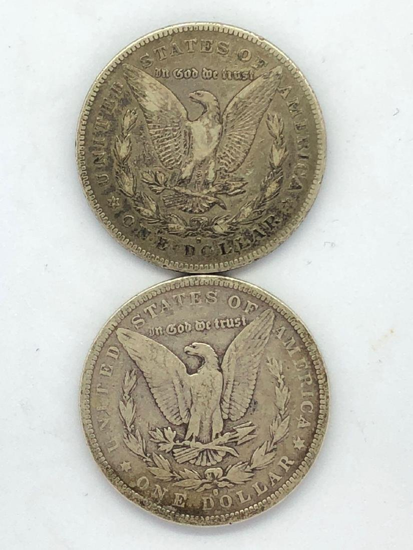 Lot Of Two 1879 Morgan Silver Dollar Coins S/F-Mint - 2