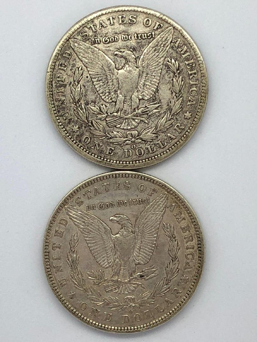 Lot Of Two 1889 Morgan Silver Dollar Coins O-Mint - 2
