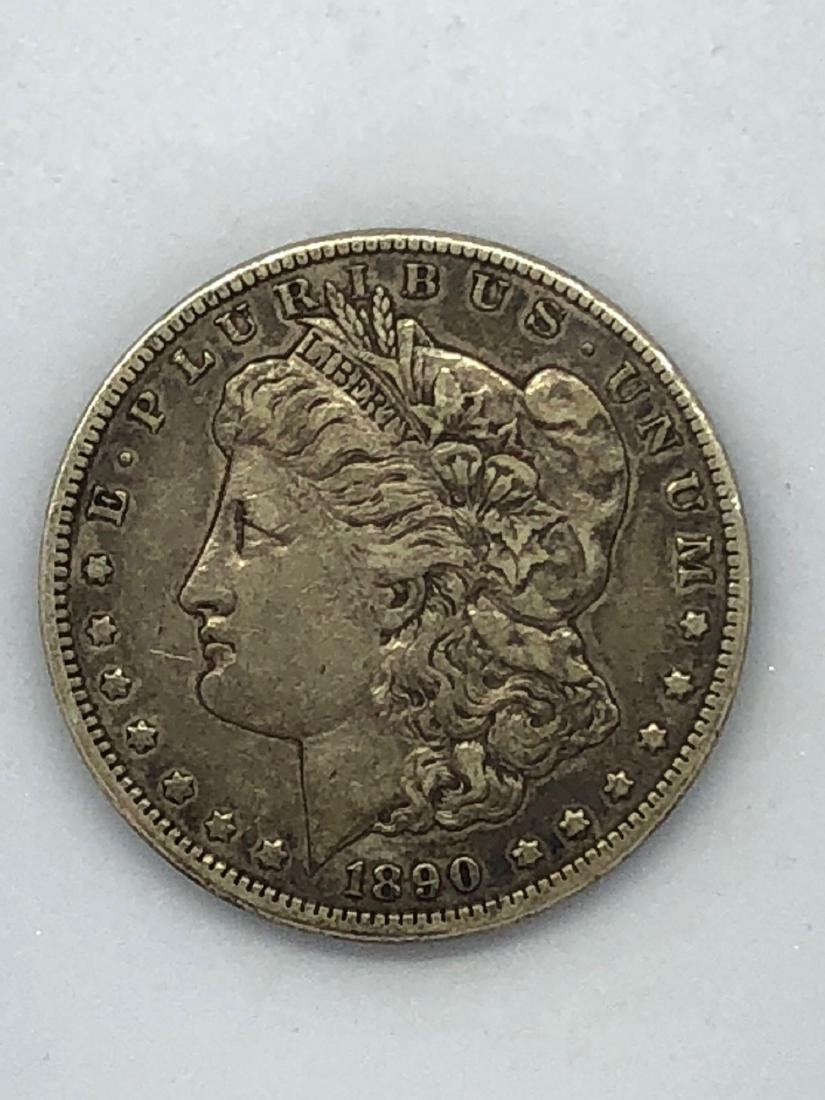 Lot Of One 1890 Morgan Silver Dollar Coin CC-Mint