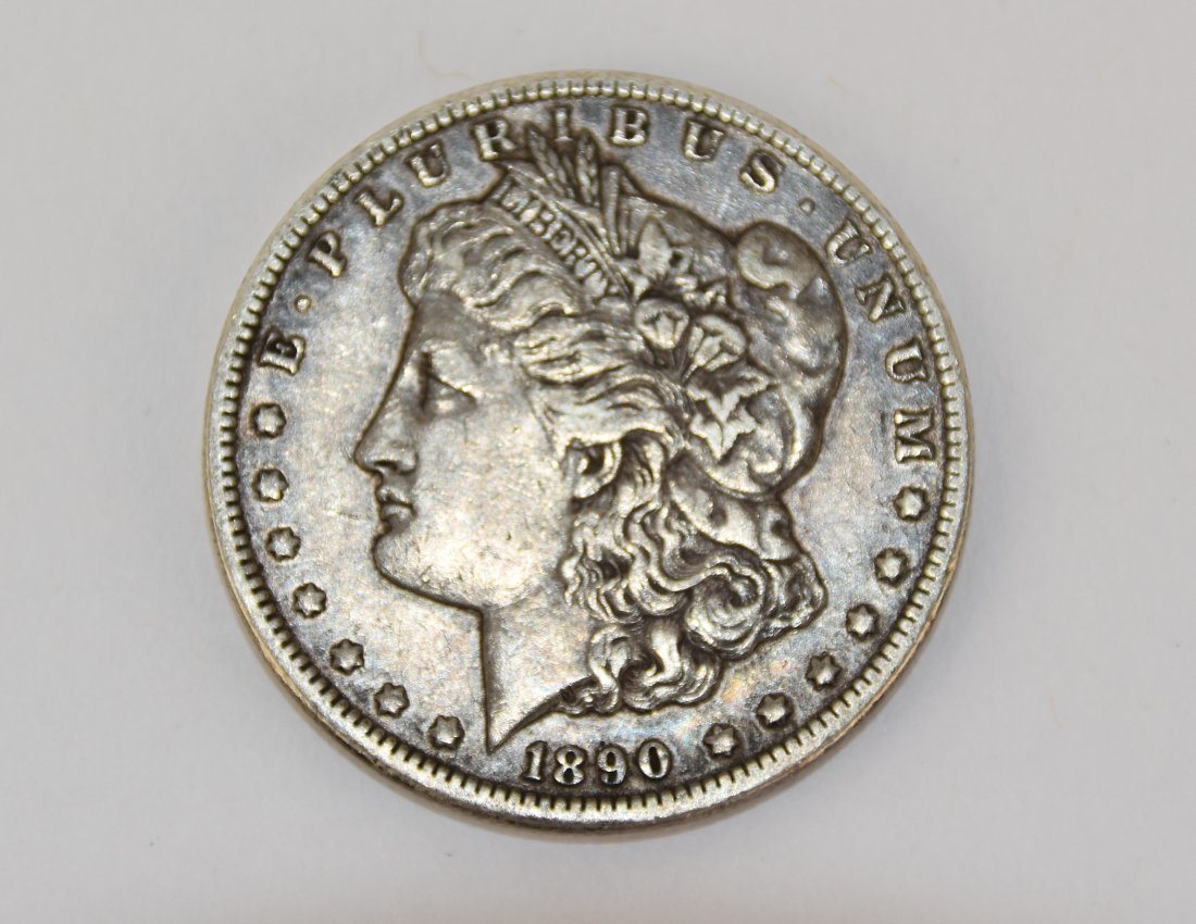 Lot Of One 1890 Morgan Silver Dollar Coin CC-Mint - 3