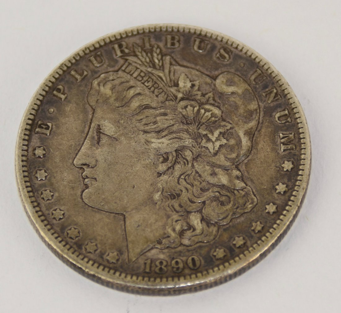 Lot Of One 1890 Morgan Silver Dollar Coin CC-Mint - 6
