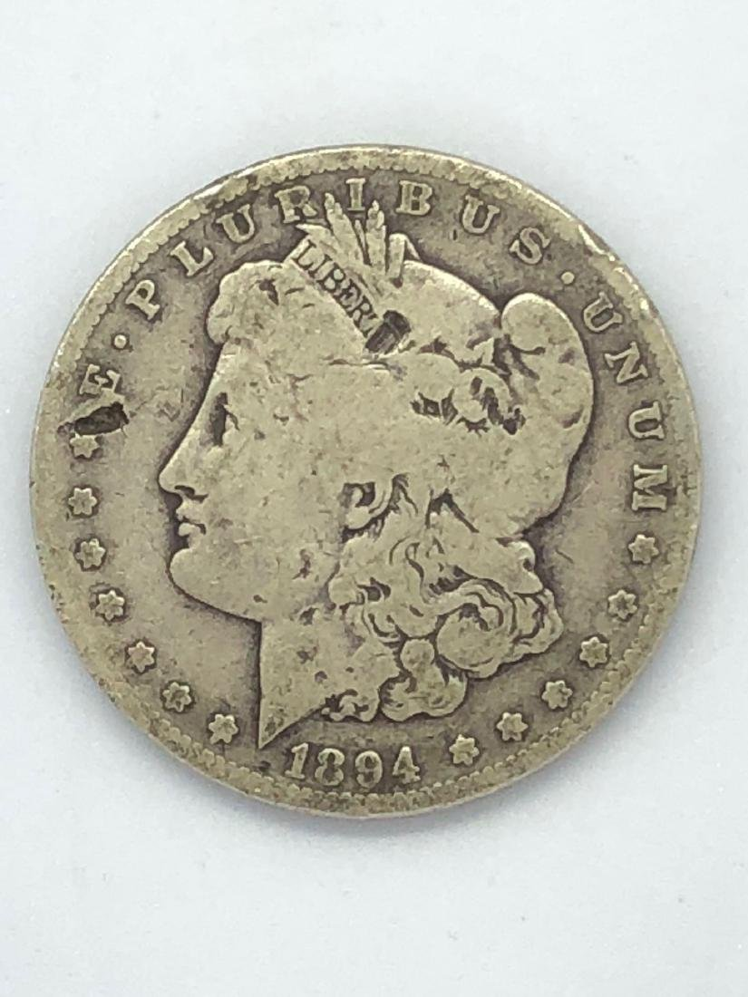 Lot Of One 1894 Morgan Silver Dollar Coin S-Mint