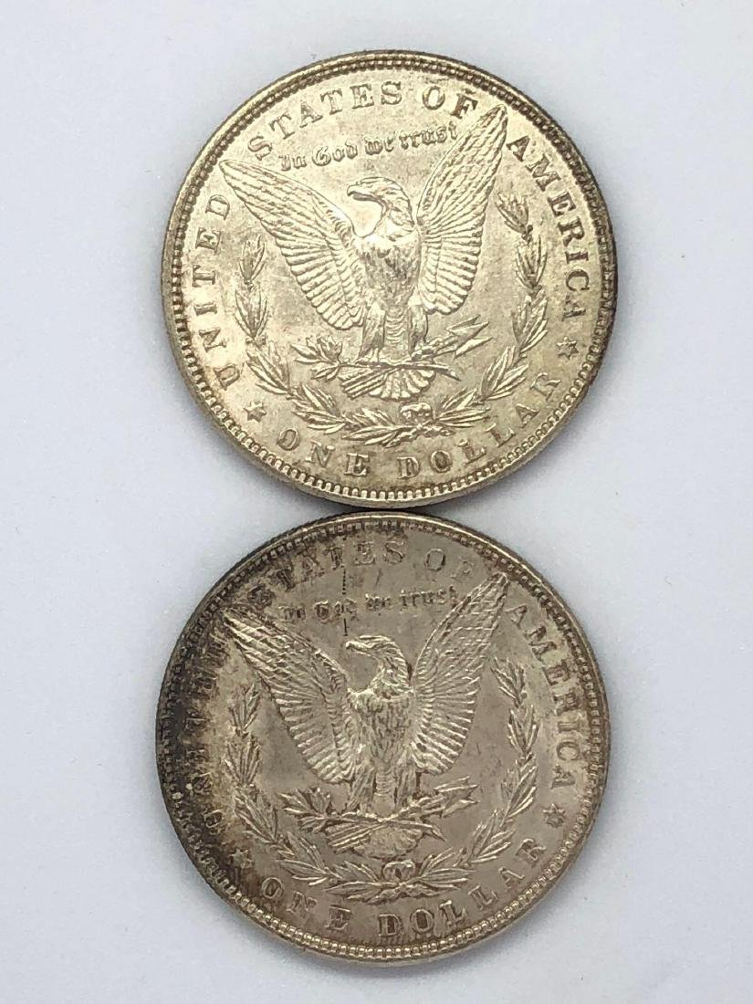 Lot Of Two 1896 Morgan Silver Dollar Coins P-Mint - 2