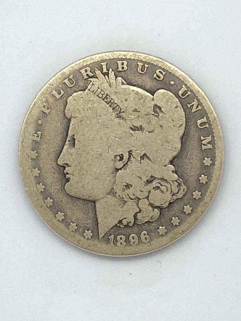 Lot Of One 1896 Morgan Silver Dollar Coin O-Mint