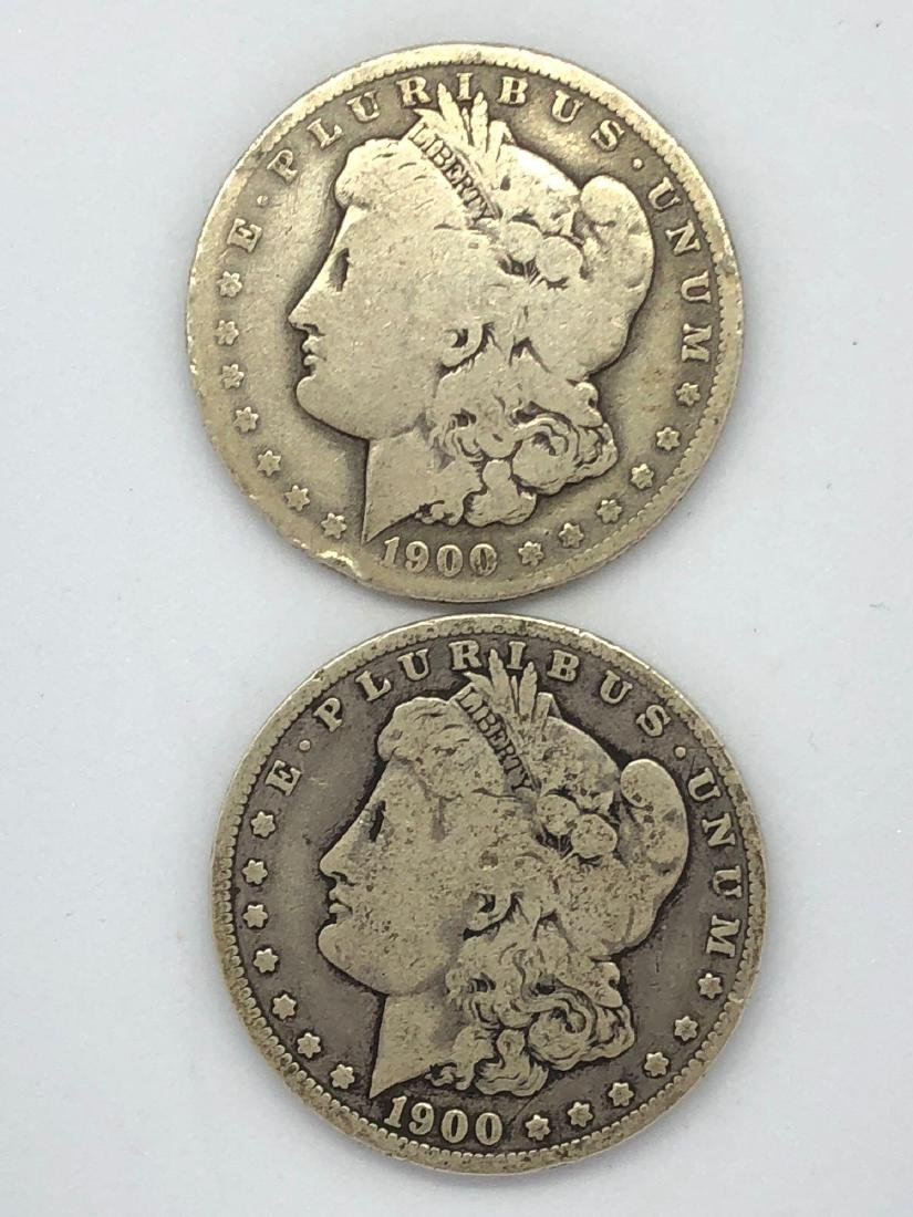 Lot Of Two 1900 Morgan Silver Dollar Coin O-Mint