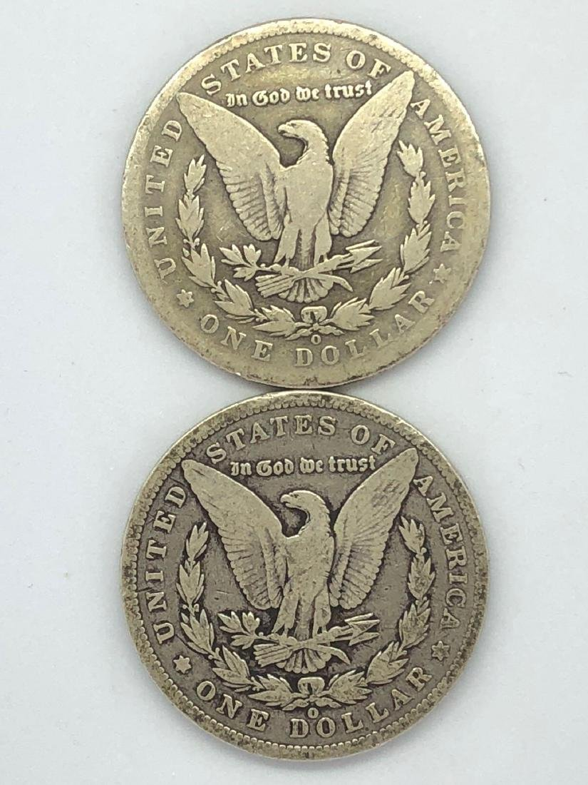 Lot Of Two 1900 Morgan Silver Dollar Coin O-Mint - 2