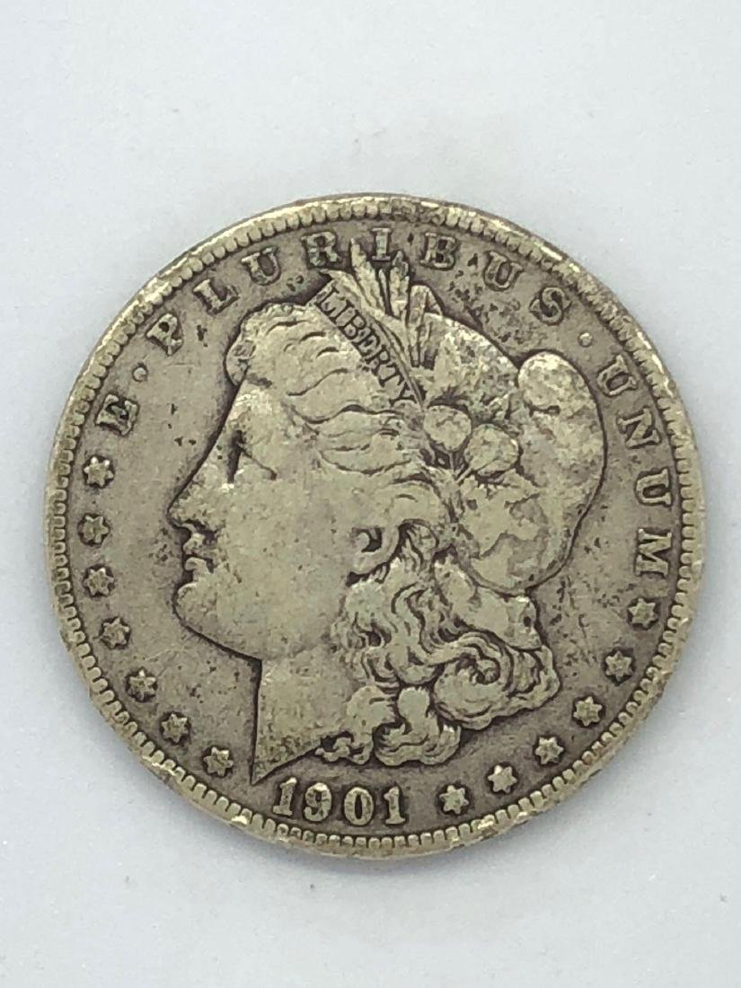 Lot Of One 1901 Morgan Silver Dollar Coin O-Mint