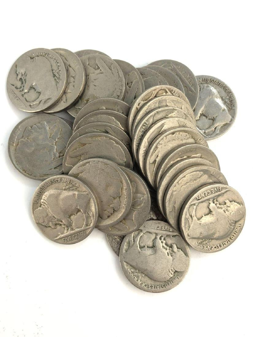 Lot Of 30 Buffalo Nickels
