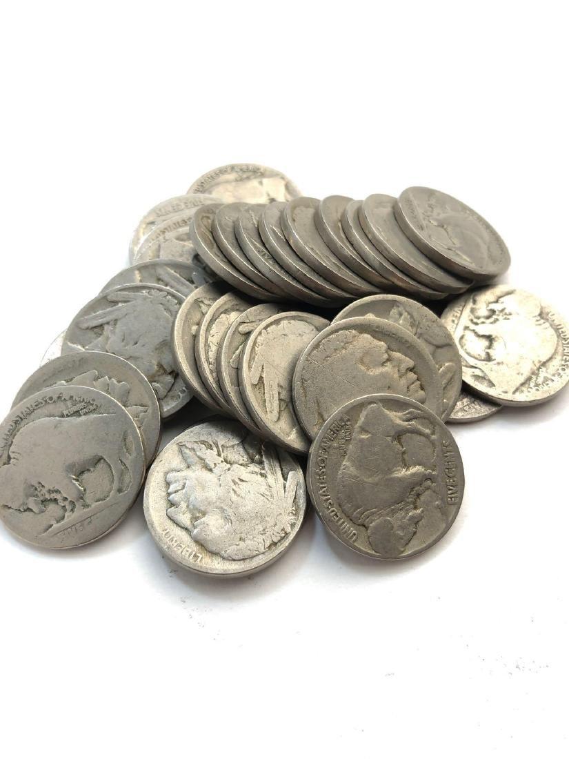Lot Of 30 Buffalo Nickels - 2