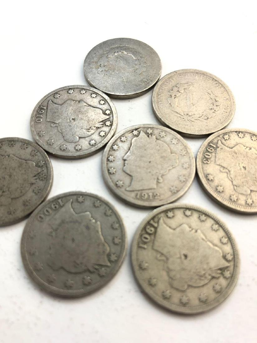 Lot Of 8 Liberty Nickles Coins - 2