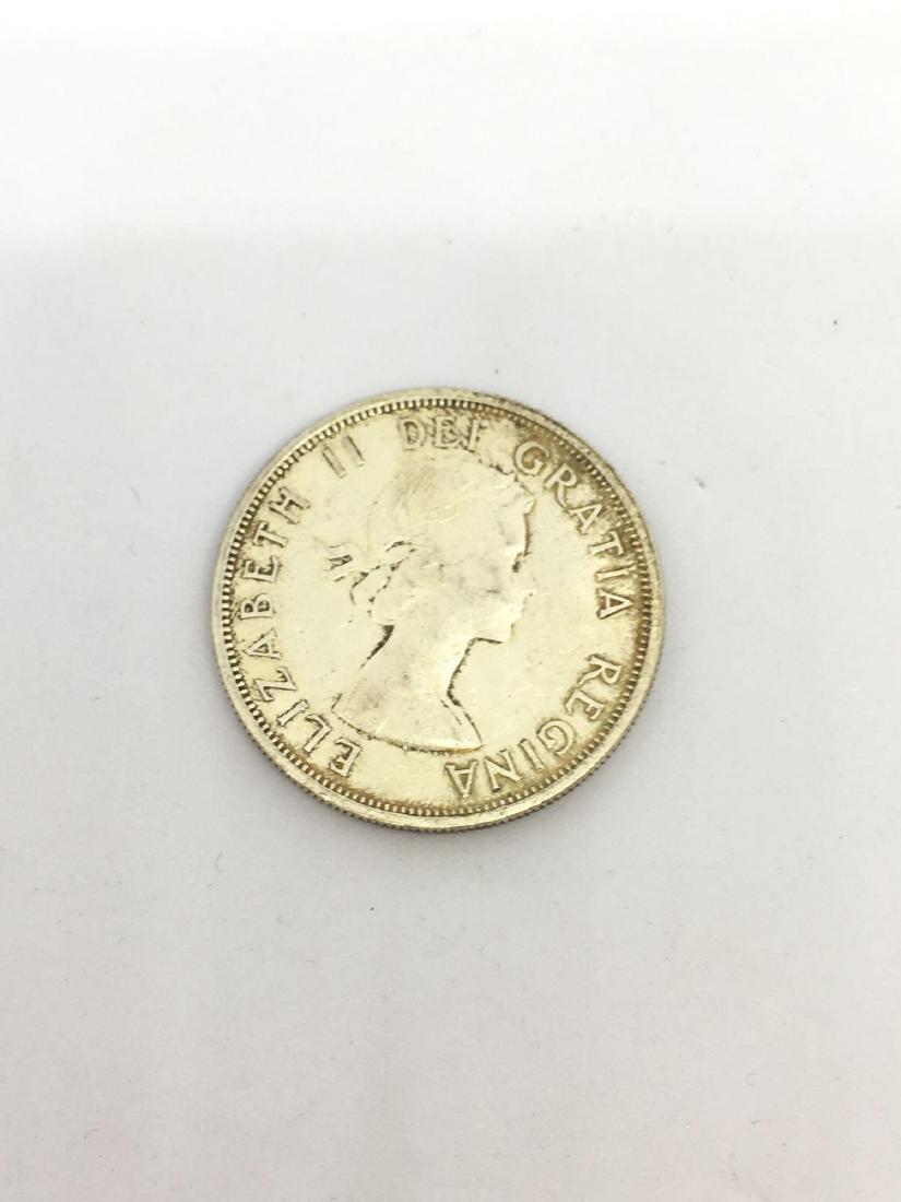 1958 Canadian British Columbia Silver Dollar