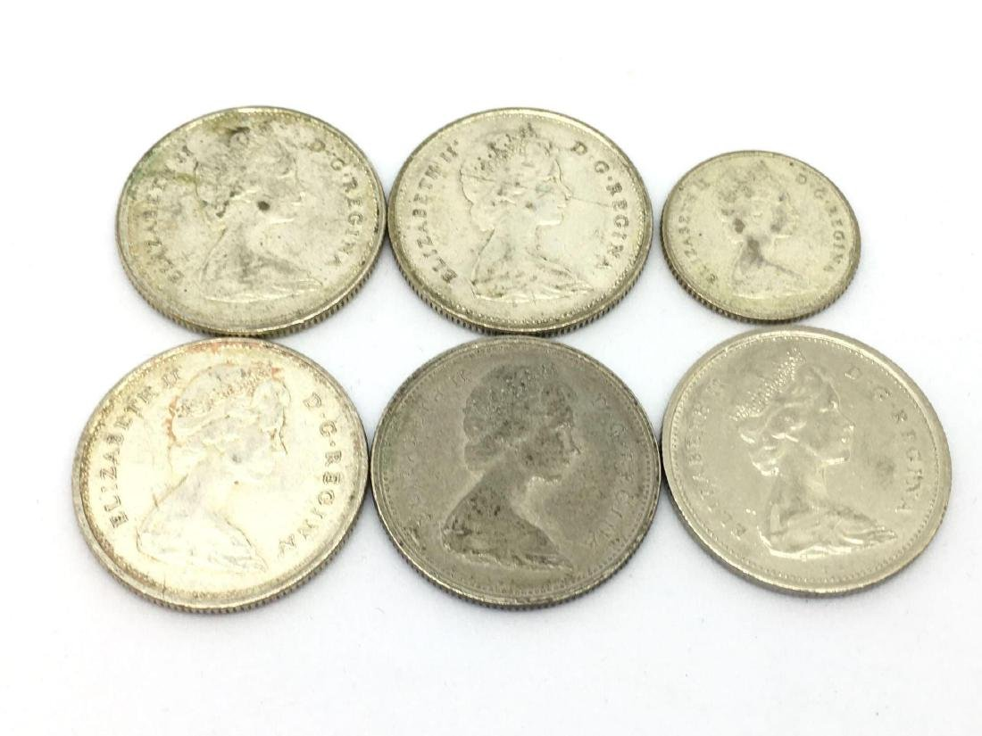 Lot of 6 1960s Canadian Silver Quarter & Dime - 3